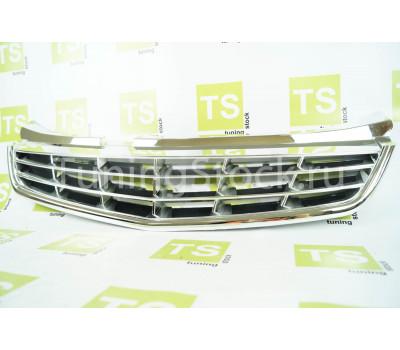 Хромированная решетка радиатора 4 лопасти без значка на Приора 2 (SE)