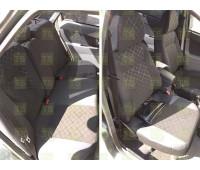Обивка сидений (не чехлы) термотиснение Скиф на Приора 2 седан