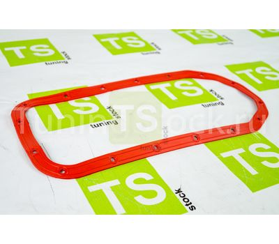 Прокладка масляного поддона красный силикон с металлическими шайбами для ВАЗ 2108-21099, 2110-2112, 2113-2115, Калина, Гранта, Приора
