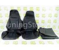 Обивка сидений (не чехлы) экокожа «Квадрат» с перфорацией на ВАЗ 2107