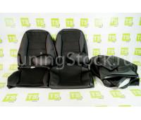 Обивка сидений (не чехлы) экокожа с тканью на ВАЗ 2112, 2111