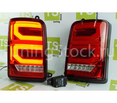Диодные задние фонари RED LED красные с бегающим повторителем Нива 4х4 21213, 21214, 2131, Урбан