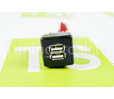 USB зарядка на 2 слота вместо заглушки кнопки ВАЗ 2110, 2111, 2112