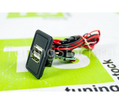 USB зарядка на 2 слота вместо заглушки панели приборов ВАЗ 2108-21099 с высокой панелью, ВАЗ 2113-2115, Лада 4х4 (Нива) 2121, 2131