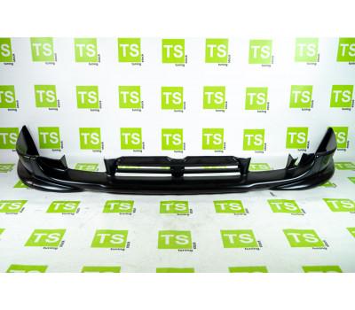 Накладка переднего бампера Кураж без сетки (центр с перемычкой) на ВАЗ 2110, 2111, 2112