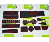 Комплект ковриков Sal-Man панели приборов и консоли на Ларгус