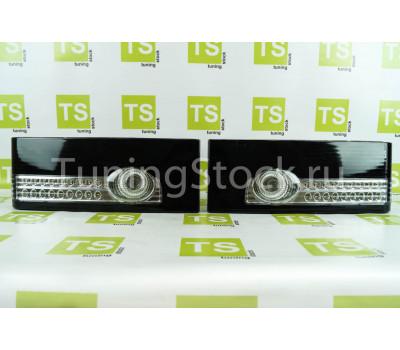 Светодиодные черные задние фонари с белой полосой на ВАЗ 2108, 2109, 21099, 2113, 2114