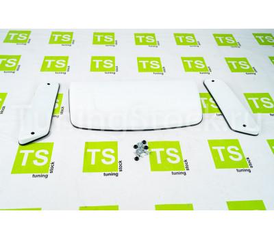 Комплект белых накладок на капот и боковые стойки Аэроэффект Лада 4х4 (Нива)