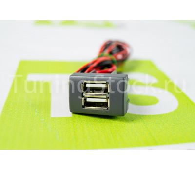 USB зарядное устройство АПЭЛ на 2 слота вместо заглушки панели приборов для автомобилей ГАЗель Некст, Бизнес