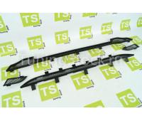 Защита радиатора в бампер (нижняя часть) Стрелка чернаяна Гранта 2