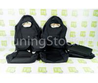 Обивка (не чехлы) сидений Recaro (черная ткань, центр Ультра) на ВАЗ 2108-21099, 2113-2115, 5-дверная Лада 4х4 (Нива) 2131