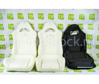 Комплект для сборки сидений Recaro (черная ткань, центр Ультра) на ВАЗ 2110, Приора седан