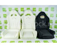 Комплект для сборки сидений Recaro (черная ткань, центр Искринка) на ВАЗ 2111, 2112, Приора хэтчбек, универсал