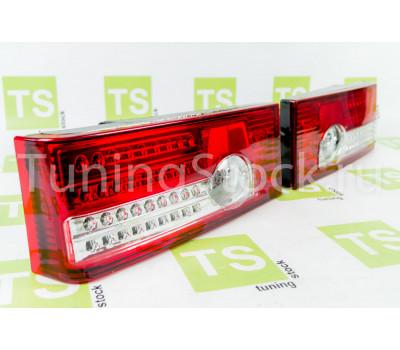 Светодиодные LED задние фонари красно-белые на ВАЗ 2108, 2109, 21099, 2113, 2114