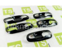 Комплект из 5 накладок ручек дверей и багажника Шевроле/Лада Нива 2123