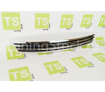 Декоративная решетка радиатора хром 4 узкие лопасти на Приора