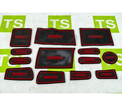 Комплект ковриков Sal-Man панели приборов и консоли на Приора