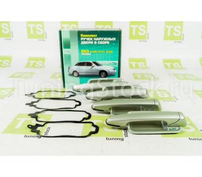 Наружные евро ручки дверей Тюн-Авто (под сверление) на Приора, ВАЗ 2110, 2111, 2112