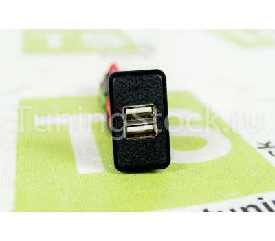 USB зарядка на 2 слота вместо заглушки панели приборов ВАЗ 2106, 2107