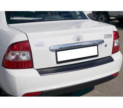Защитная накладка на задний бампер Приора 2 седан