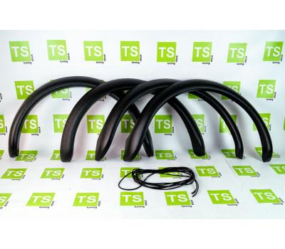 Пластиковые накладки (фендеры) с уплотнителем на арки колес Нива 4х4 21213, 21214, 2131