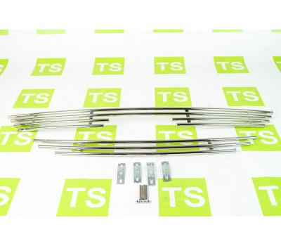Накладка на решетку радиатора d10 нержавеющая для Ларгус