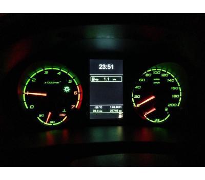 Комбинация приборов электронная с GPS навигацией Ителма на Приора после июня 2012 года