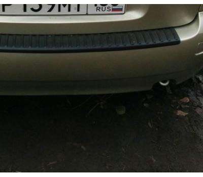 Защитная накладка на задний бампер Калина седан