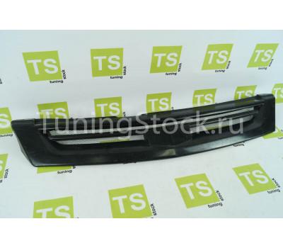 Решетка радиатора TMS с сеткой и перемычкой на Приора 2, SE