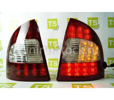 Задние фонари светодиодные красно-белые на Калина седан