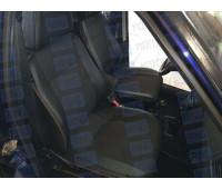 Обивка сидений (не чехлы) экокожа с тканью на Приора хэтчбек, универсал