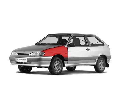Крыло переднее левое окрашенное в цвет на ВАЗ 2113-2115