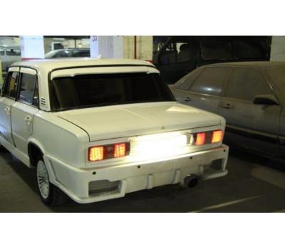 Бампер задний Тюнинг-1 с сеткой на ВАЗ 2105, 2107 неокрашенный