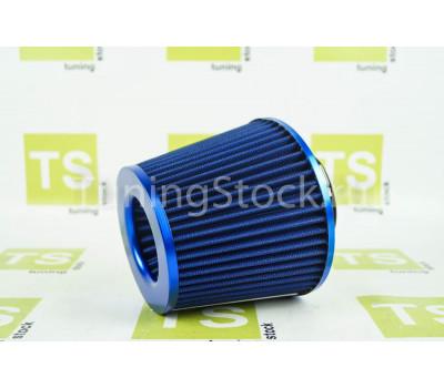 Воздушный фильтр нулевого сопротивления, синий конус на инжекторные ВАЗ 2107, 2108-21099, 2113-2115, 2110-2112, Калина, Приора, Гранта, Лада 4х4, Шевроле Нива
