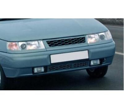 Нижняя решетка на передний бампер Соты с сеткой на ВАЗ 2110, 2111, 2112