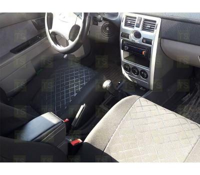 Обивка сидений (не чехлы) термотиснение Скиф на Приора седан