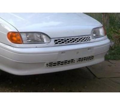 Нижняя решетка на передний бампер Соты для ВАЗ 2113-2115
